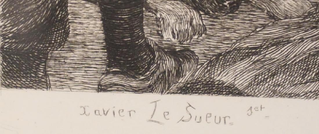 XAVIER F. LE SUEUR ENGRAVING *ZAPOROZHIAN COSSACK - 3