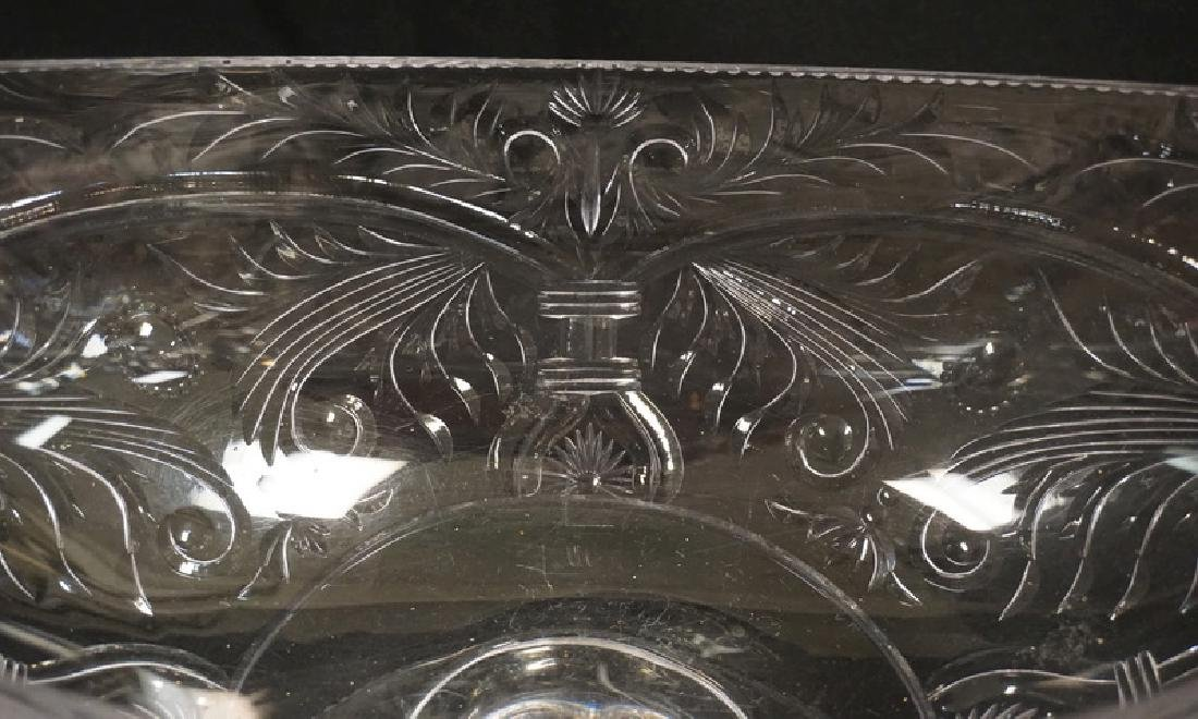 QUALITY CUT GLASS BOWL WITH A PEDESTAL FOOT. UNSIGNED, - 2