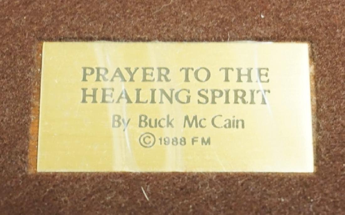 FRANKLIN MINT *PRAYER TO THE HEALING SPIRIT* BRONZE - 3