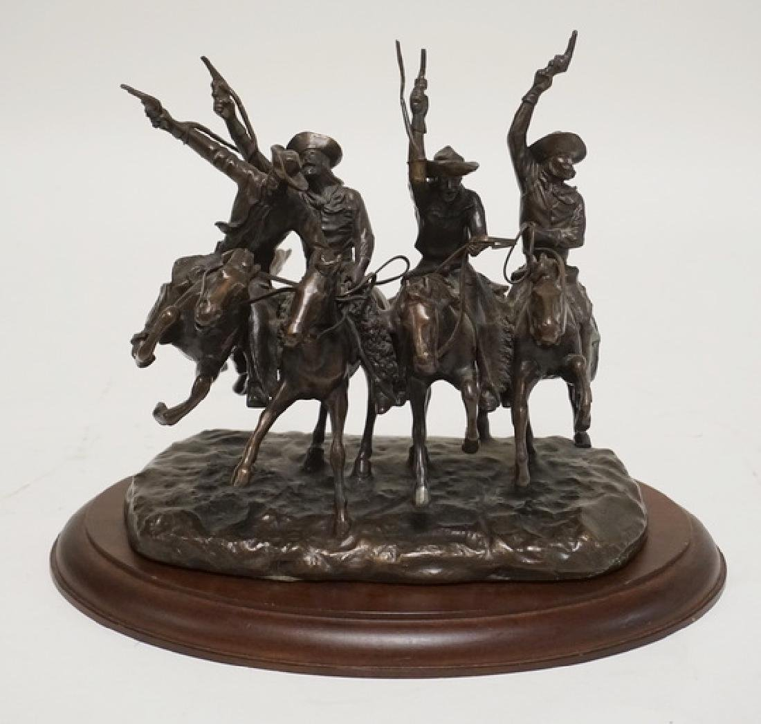FRANKLIN MINT *COMING THROUGH THE RYE* BRONZE