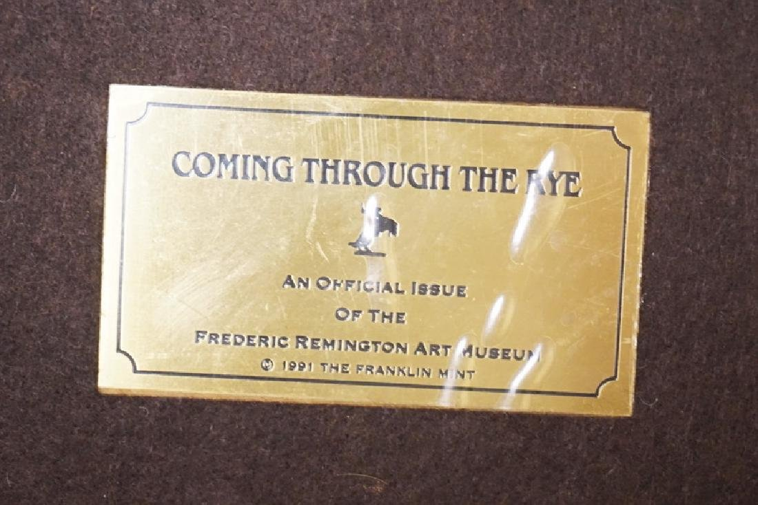 FRANKLIN MINT *COMING THROUGH THE RYE* BRONZE - 3