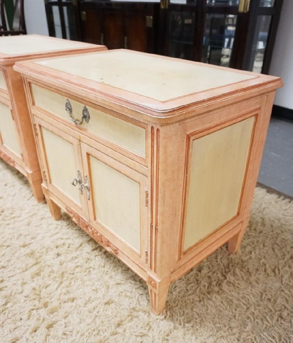 PAIR OF BAKER PAINT DECORATED NIGHTSTANDS - 2