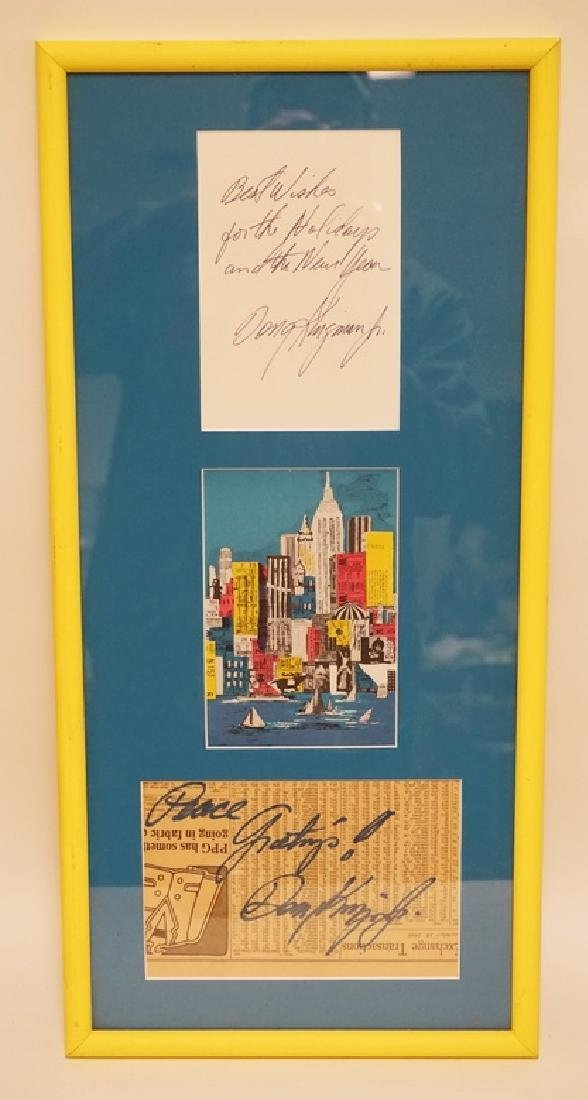 DONG KINGMAN SIGNED GREETINGS WITH A PRINT OF NEW YORK