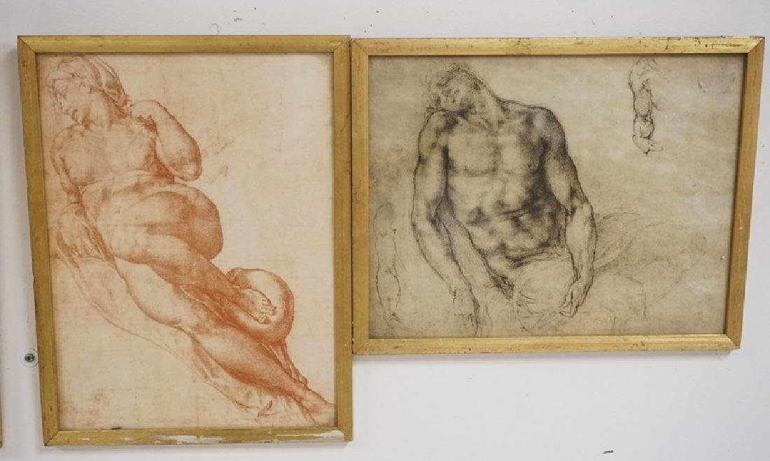 GROUP OF 4 PRINTS OF DRAWING STUDIES INCLUDING - 3
