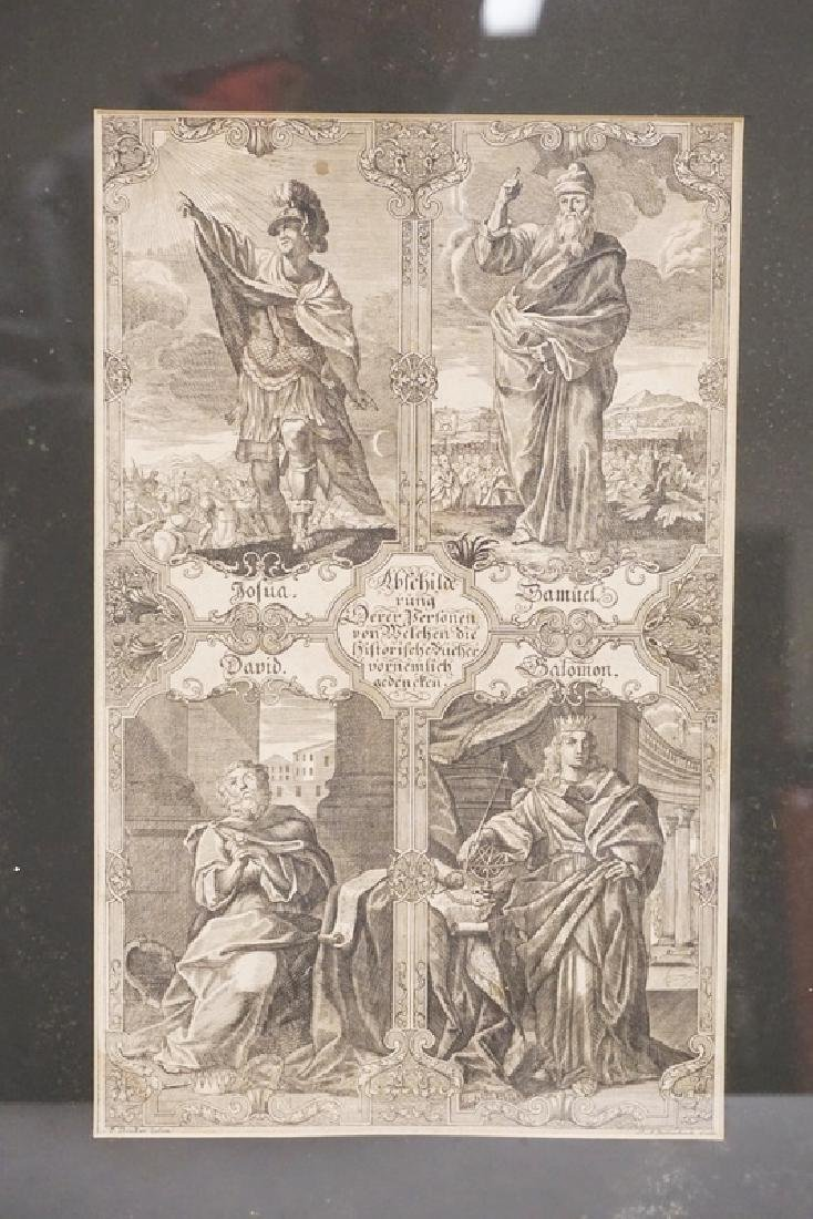 JOHANN ADAM DELSENBACH ENGRAVING OF JOSHUA, SAMUEL,