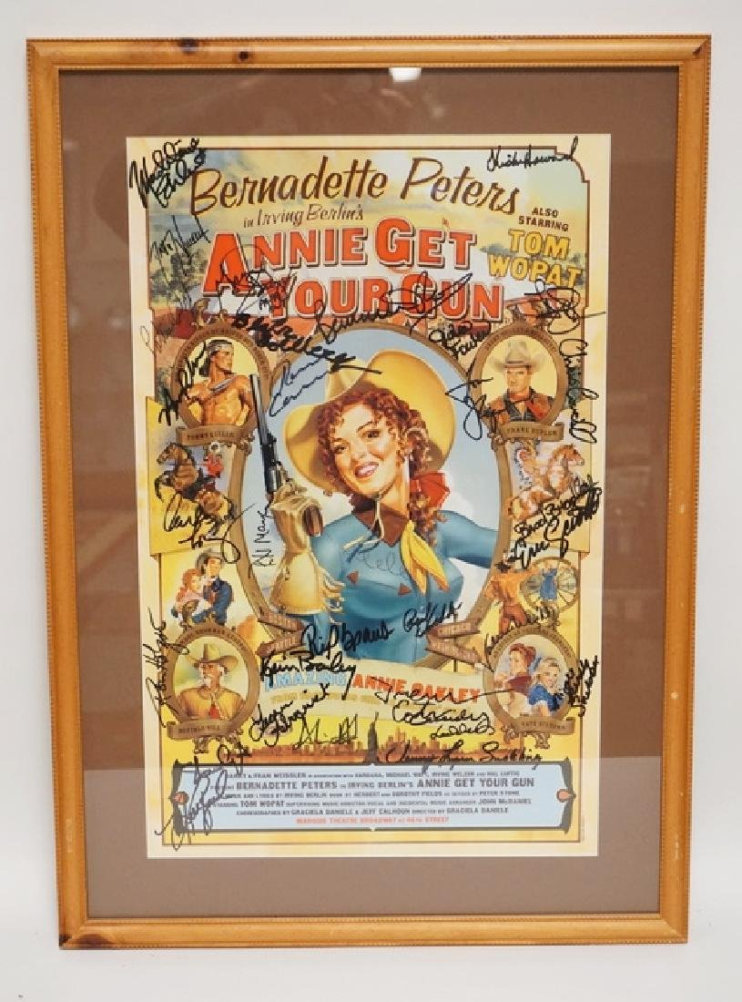 IRVING BERLINS *ANNIE GET YOUR GUN* POSTER SIGNED BY