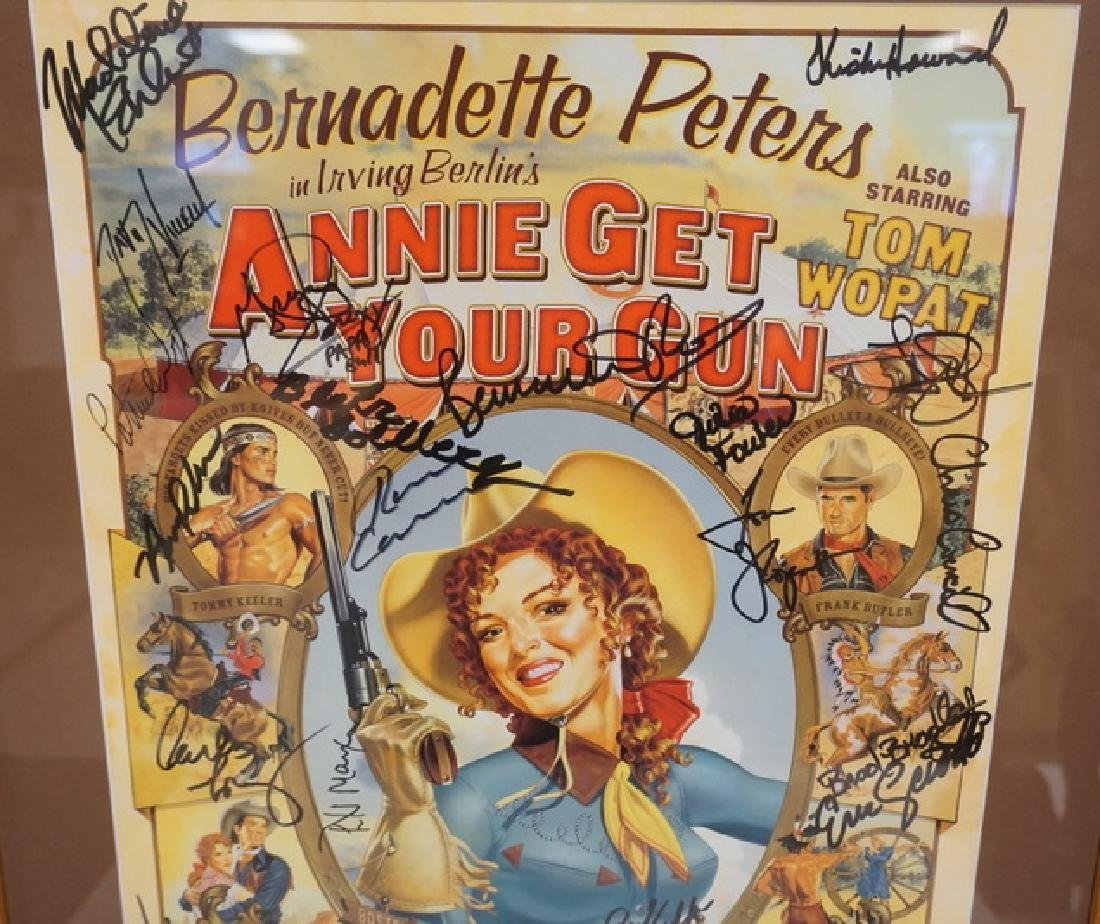 IRVING BERLINS *ANNIE GET YOUR GUN* POSTER SIGNED BY - 2
