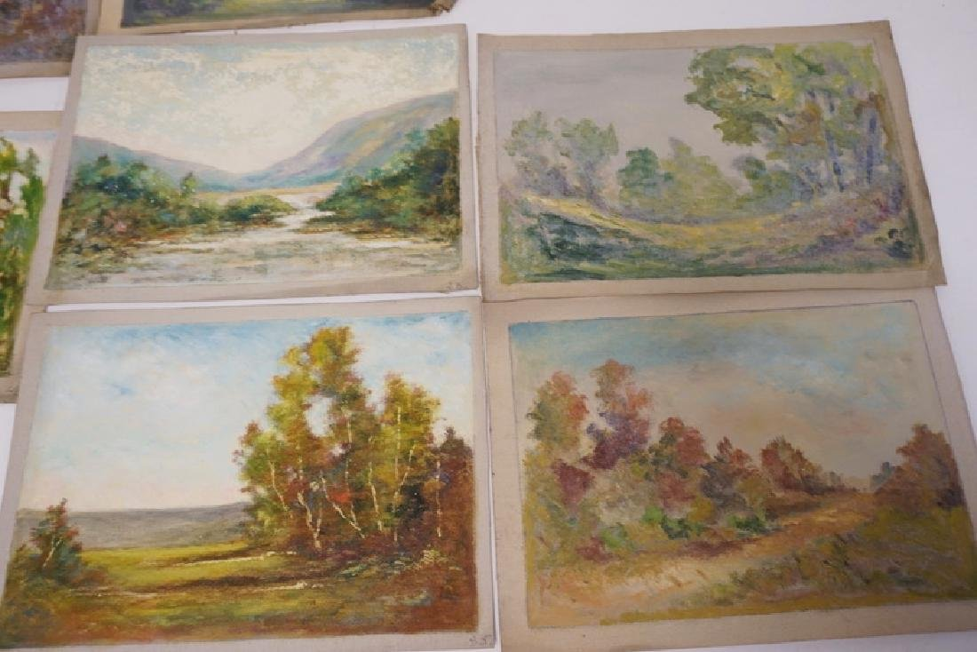 GROUP OF 7 OIL PAINTINGS ON CANVAS OF LANDSCAPES. - 2