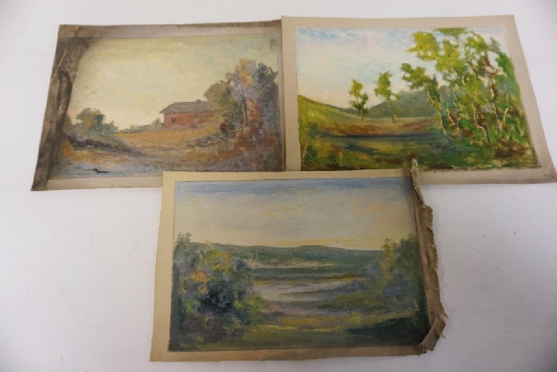 GROUP OF 7 OIL PAINTINGS ON CANVAS OF LANDSCAPES. - 3