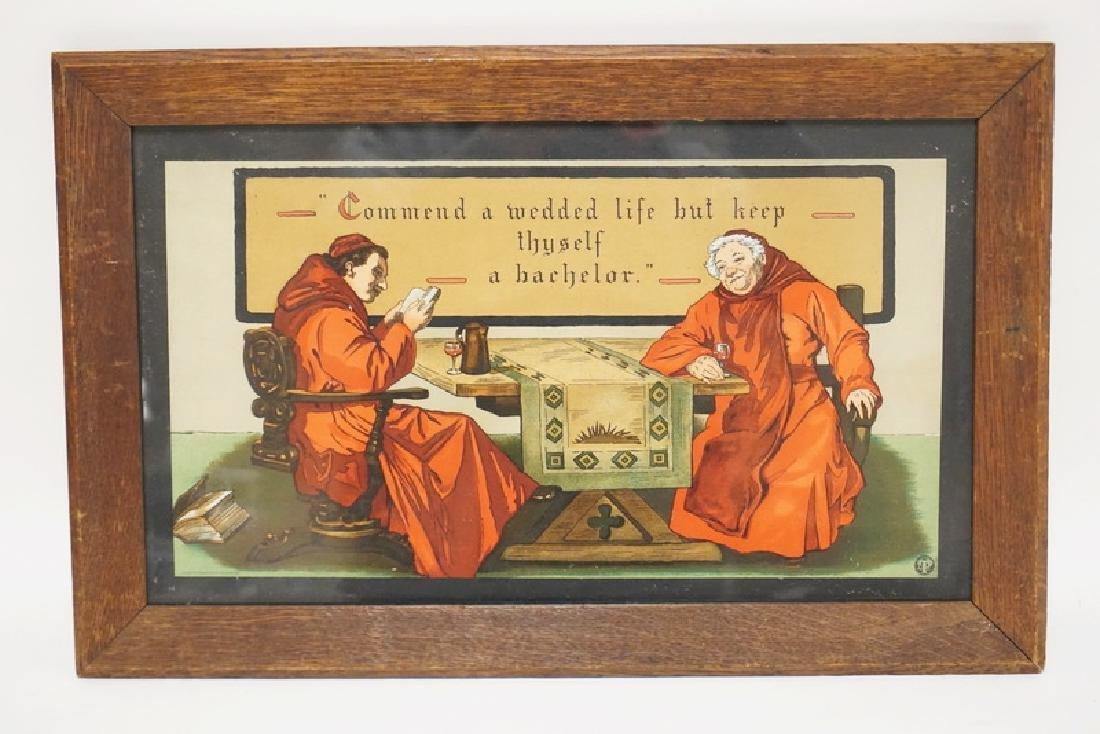 TABER-PRANG 1904 ARTS & CRAFTS LITHOGRAPH OF CARDINALS.