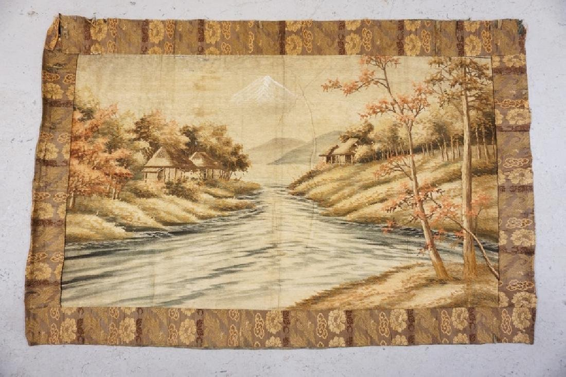ANTIQUE HAND STITCHED TAPESTRY.
