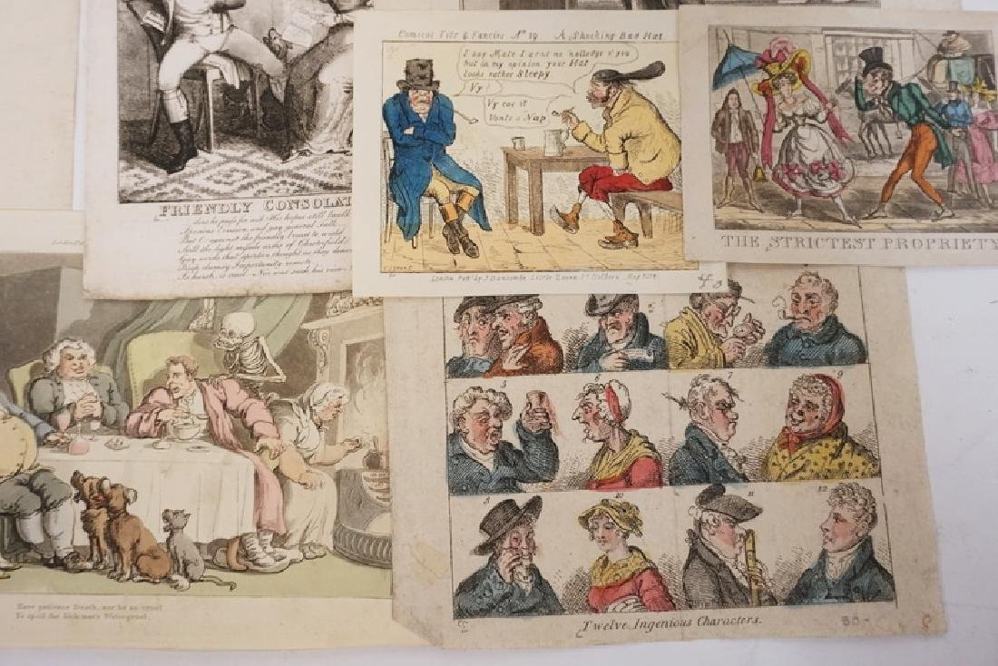 LOT OF 12 ETCHINGS INCLUDING HAND COLORED, FRENCH, AND - 2