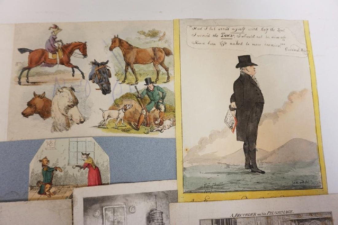 LOT OF 12 ETCHINGS INCLUDING HAND COLORED, FRENCH, AND - 4