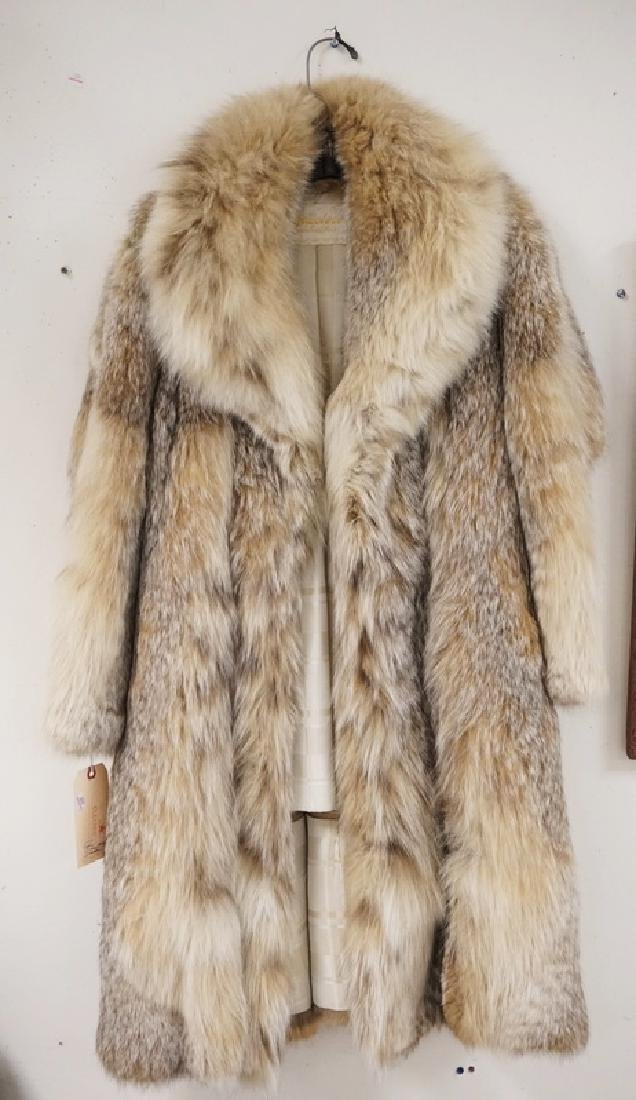 LYNX FULL LENGTH FUR COAT MEASURING APPROX 46 INCHES