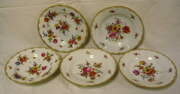 SET OF 5 HAND PAINTED THOMAS, GERMANY SOUP BOWLS