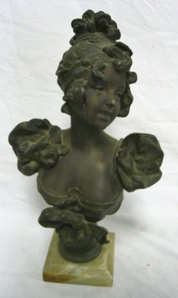 BRONZE BUST OF A LADY