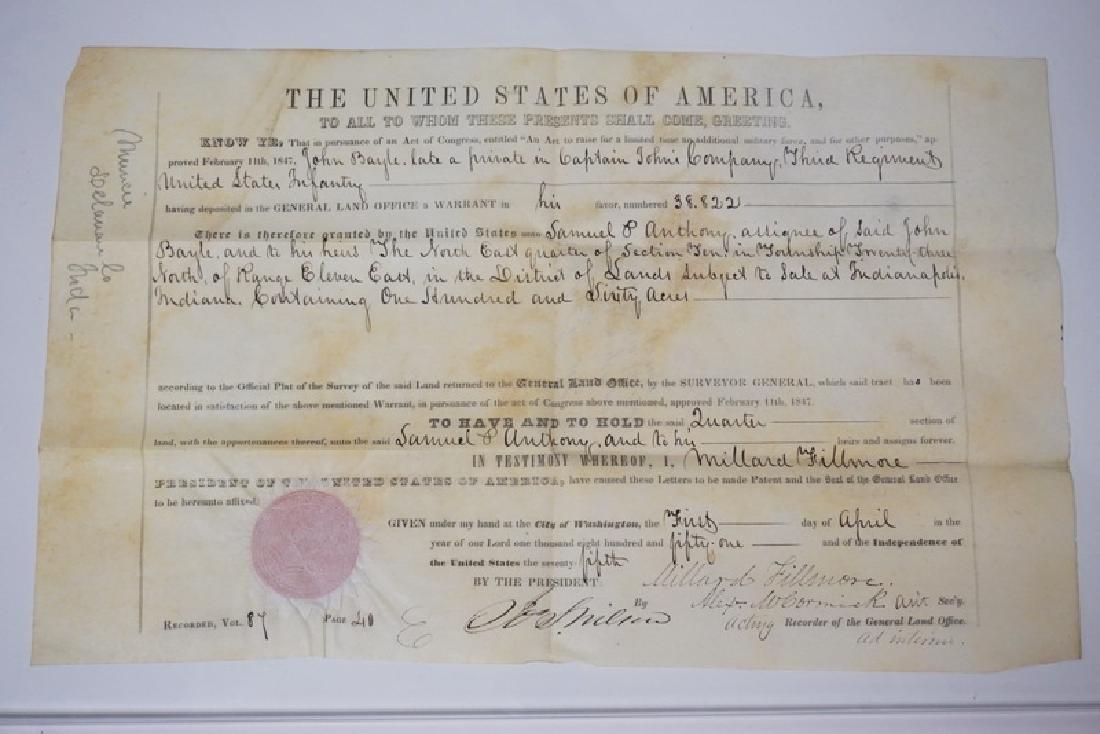 1851 LAND GRANT GIVEN POSTHUMOUSLY TO *JOHN BOYLE. A
