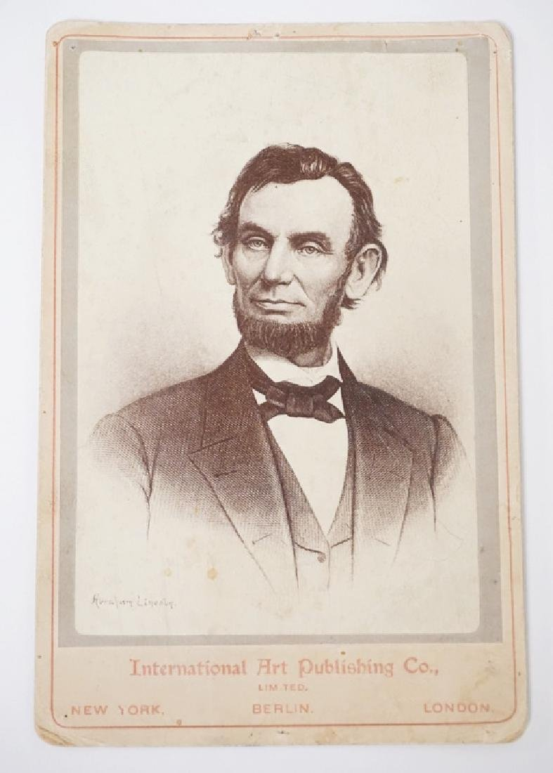 ABRAHAM LINCOLN CDV BY *INTERNATIONAL ART PUBLISHING