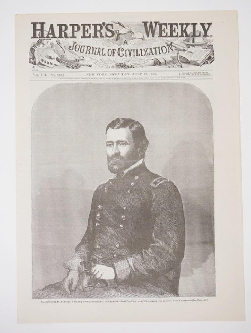 CIVIL WAR ERA HARPER'S WEEKLY, JULY 25TH 1863.