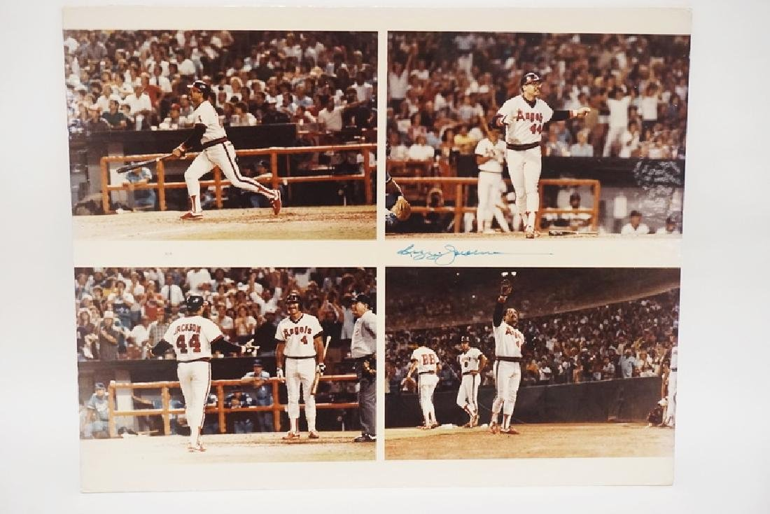 LARGE FOUR SCENE PHOTO GOUPING OF REGGIE JACKSON.