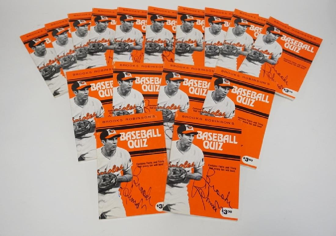 LOT OF 16 AUTOGRAPHED COPIES OF BROOKS ROBINSON'S