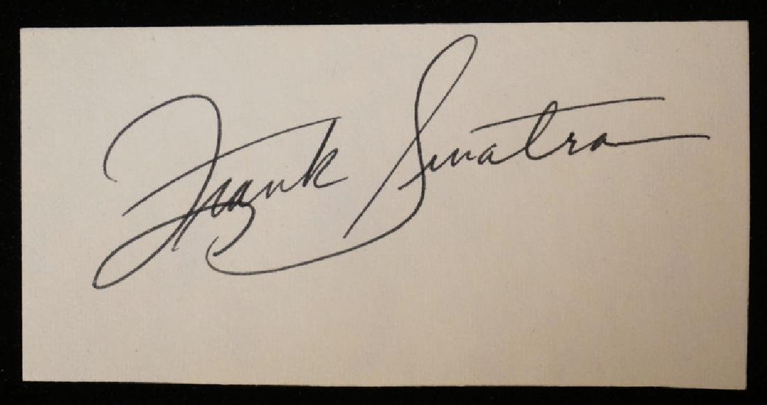 FRANK SINATRA CUT SIGNATURE ON PAPER.