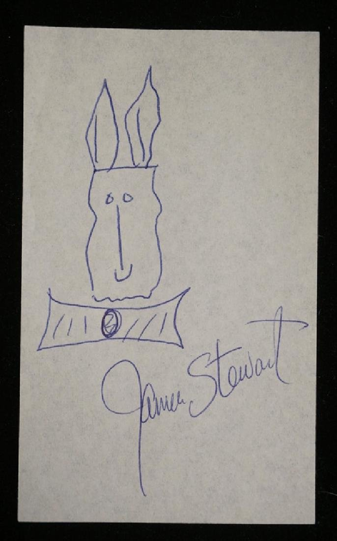 JAMES STEWART CUT SIGNATURE WITH HARVEY THE RABBIT