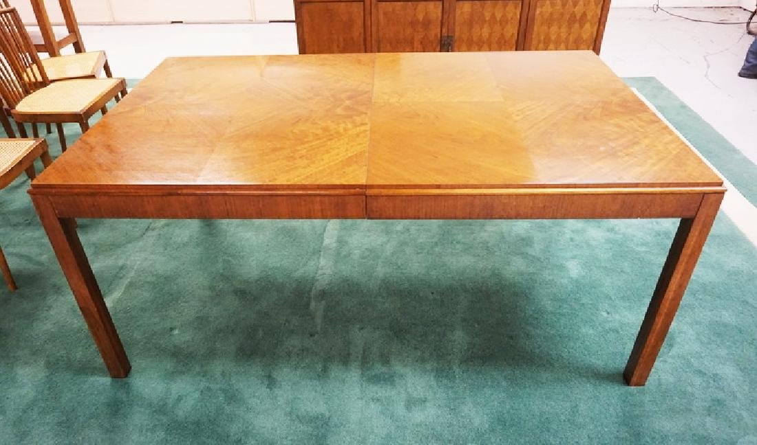 MID CENTURY MODERN DINING TABLE WITH BOOK MATCHED
