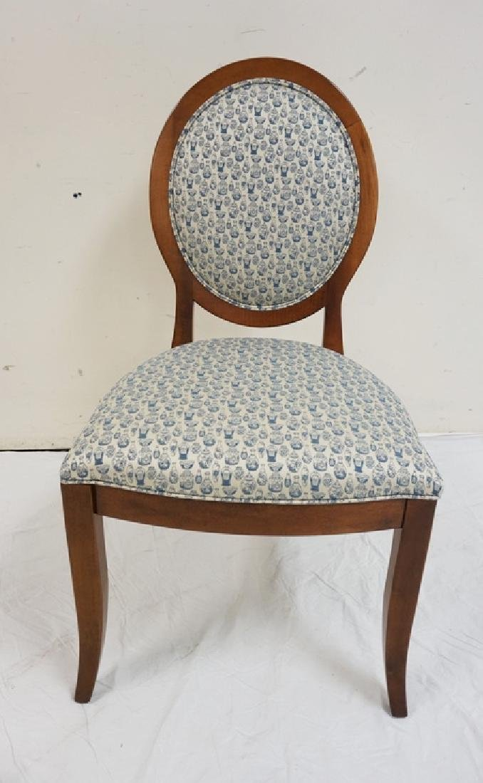 ETHAN ALLEN SIDE CHAIR. 39 INCHES HIGH. 21 INCHES WIDE.