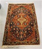 ANTIQUE HAND WOVEN ORIENTAL RUG MEASURING 4 FT 11