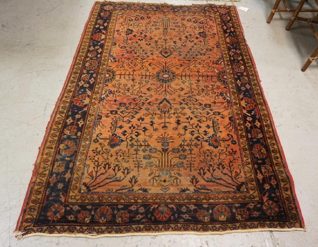 ANTIQUE HAND WOVEN ORIENTAL RUG MEASURING 6 FT 7 INCHES