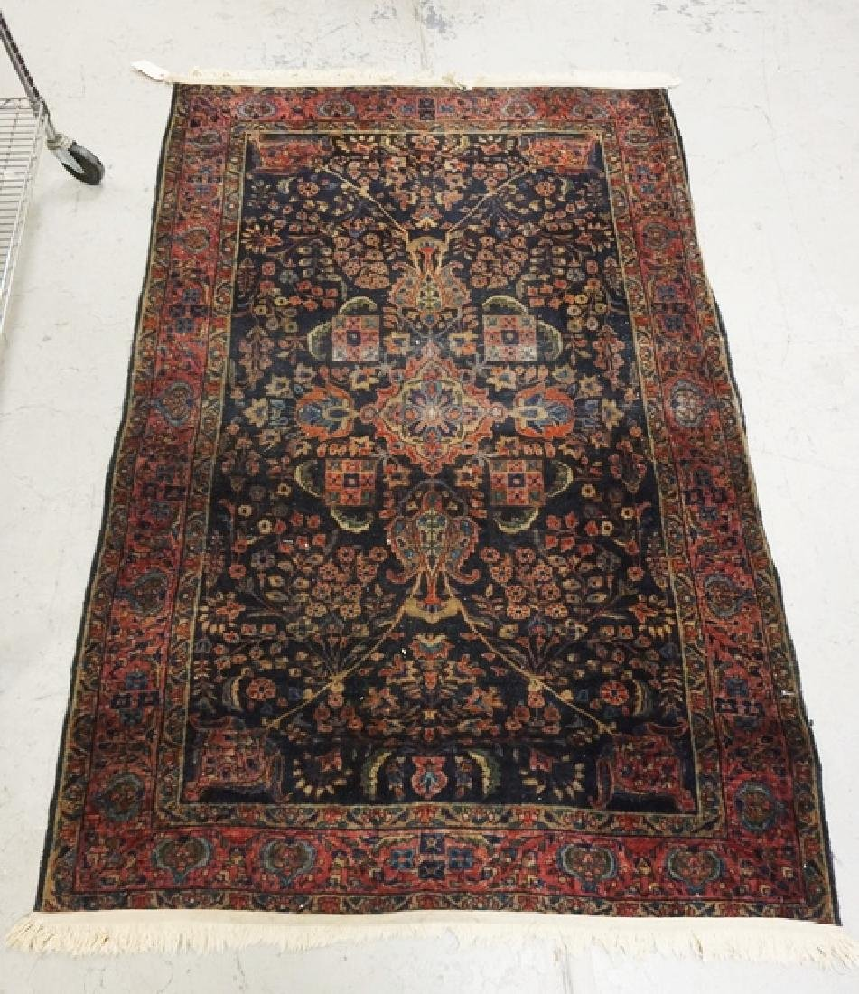 ANTIQUE HAND WOVEN ORIENTAL RUG MEASURING 6 FT 3 INCHES