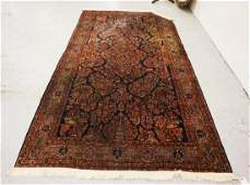 ANTIQUE HAND WOVEN ORIENTAL RUG MEASURING 10 FT X 5 FT