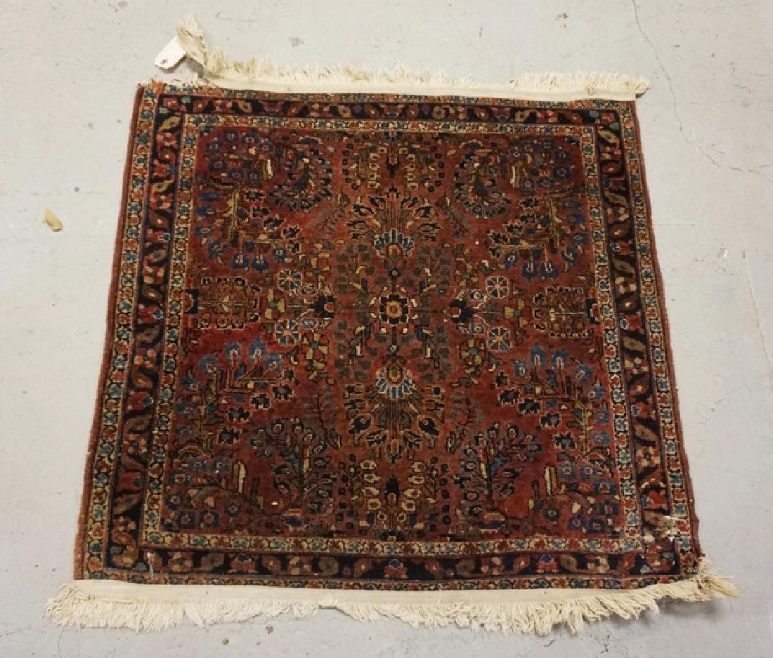 ANTIQUE ORIENTAL RUG MEASURING 2 FT 11 INCHES X 2 FT 8