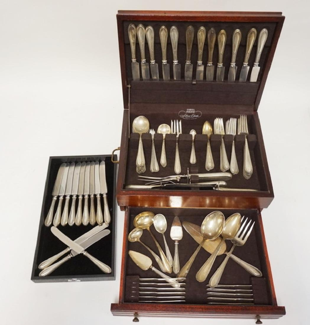 GORHAM *EDGEWORTH* STERLING SILVER FLATWARE SET. 137