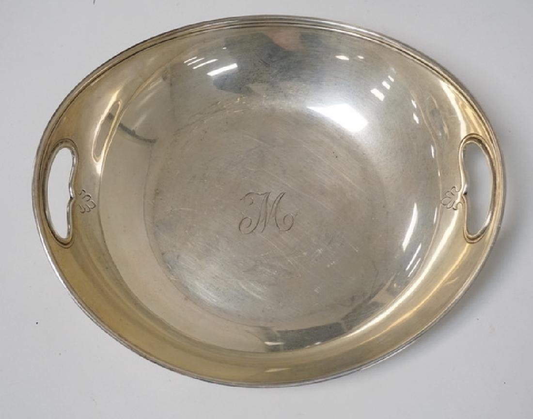 TIFFANY & CO MAKERS STERLING SILVER OVAL BOWL WITH OPEN