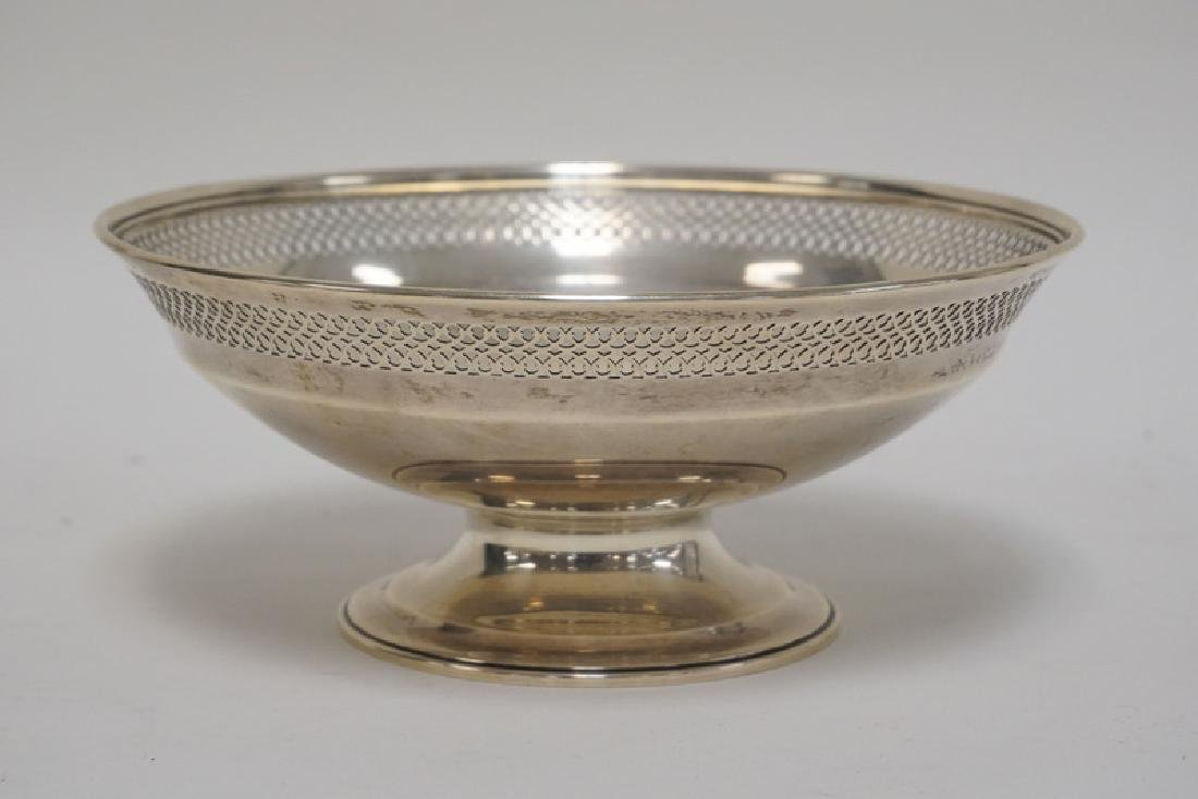 TIFFANY & CO MAKERS STERLING SILVER FOOTED BOWL WITH A