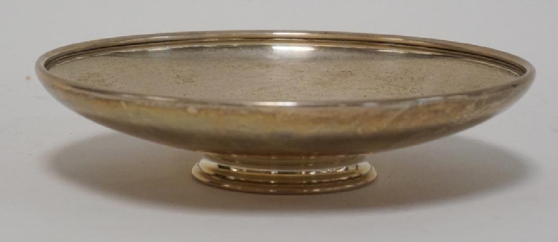 TIFFANY & CO MAKERS STERLING SILVER FOOTED SHALLOW BOWL