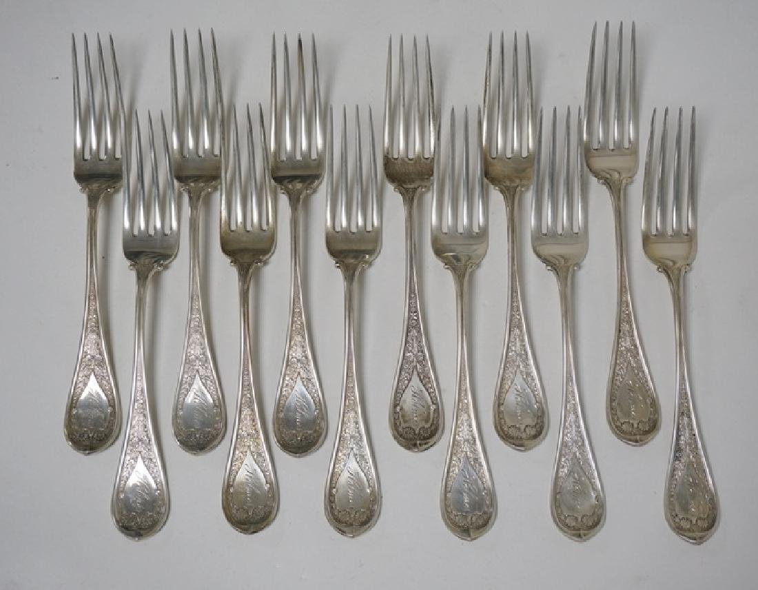 SET OF 12 WOOD & HUGHES *MARGUERITE* PATTERN STERLING