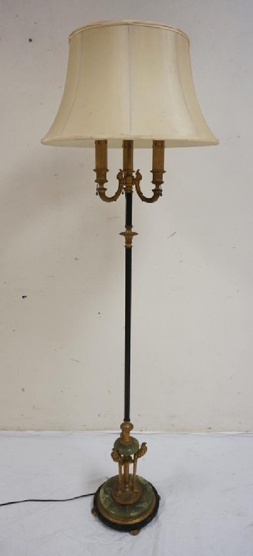 SUPERB QUALITY BRONZE AND ONYX FLOOR LAMP MADE BY