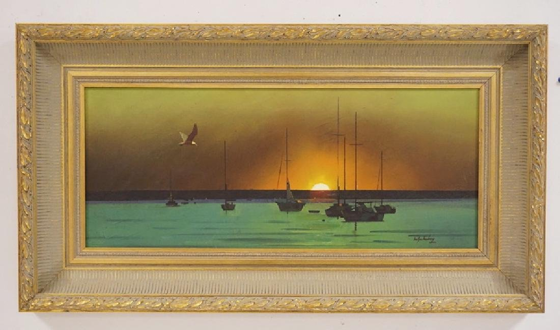 STANLEY M. ZUCKERBERG (1919-1995) OIL PAINTING ON BOARD