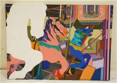 ELEANOR CLYDE AMBROSE OIL PAINTING ON CANVAS TITLED
