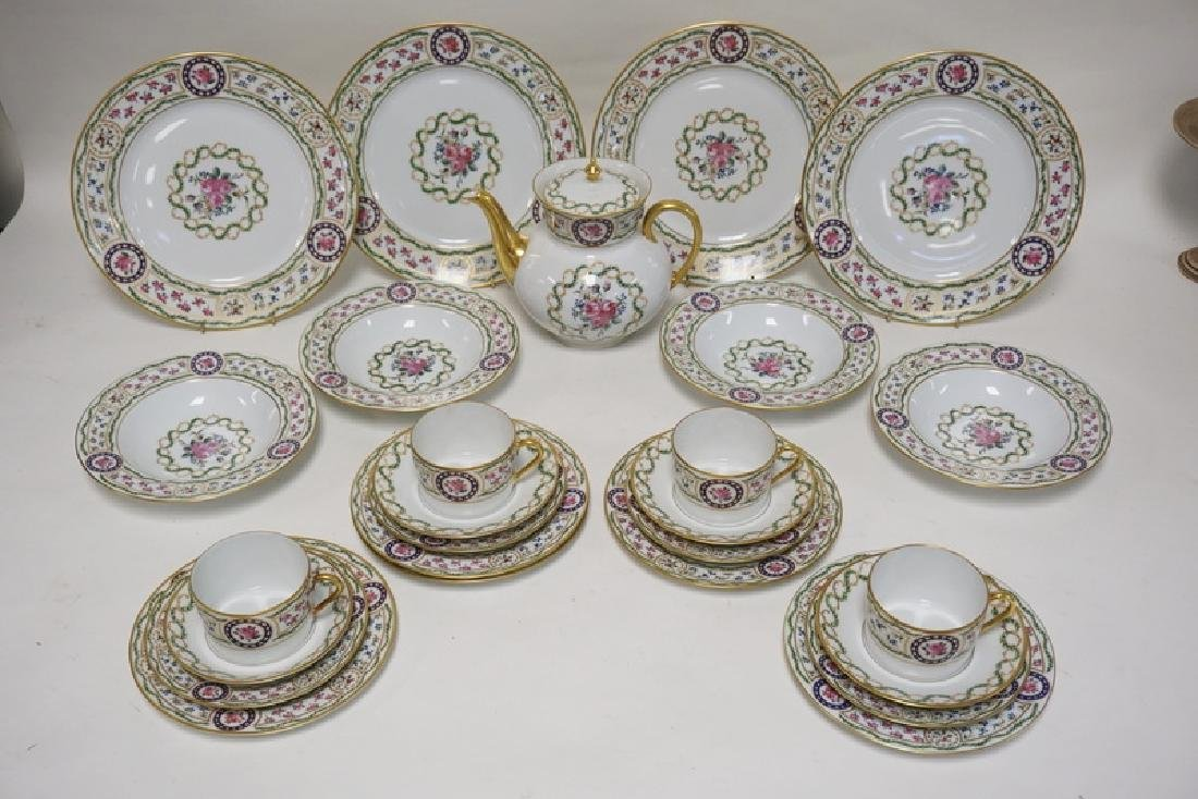 26 PIECES OF LIMOGES *LOUVECIENNES* PORCELAIN