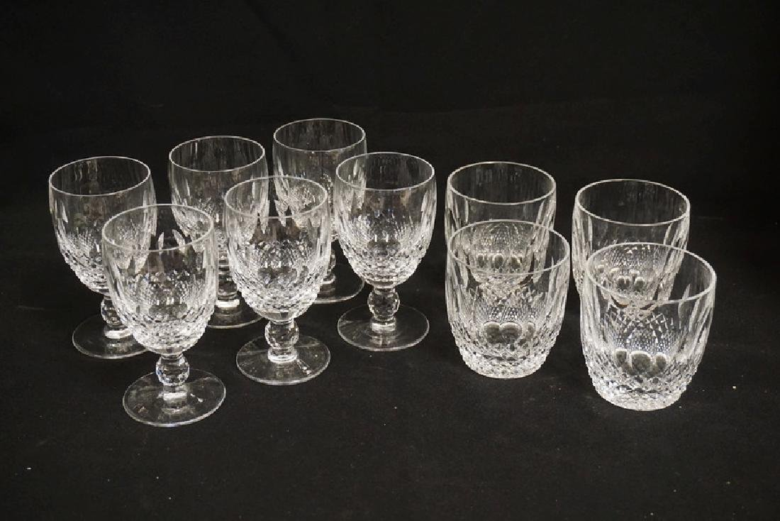10 PIECES OF MATCHING WATERFORD CRYSTAL. 6 WINE GLASSES