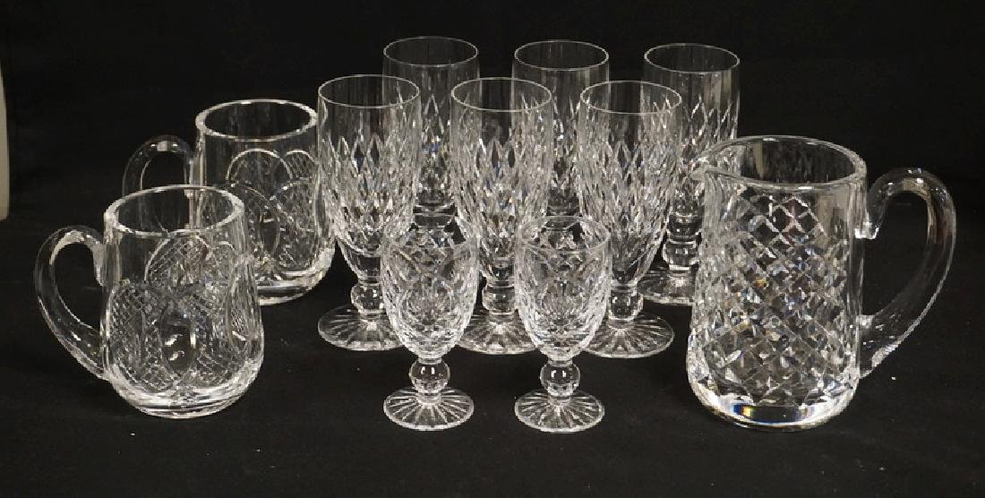 11 PIECES OF WATERFORD CRYSTAL. 6 WINE GLASSES