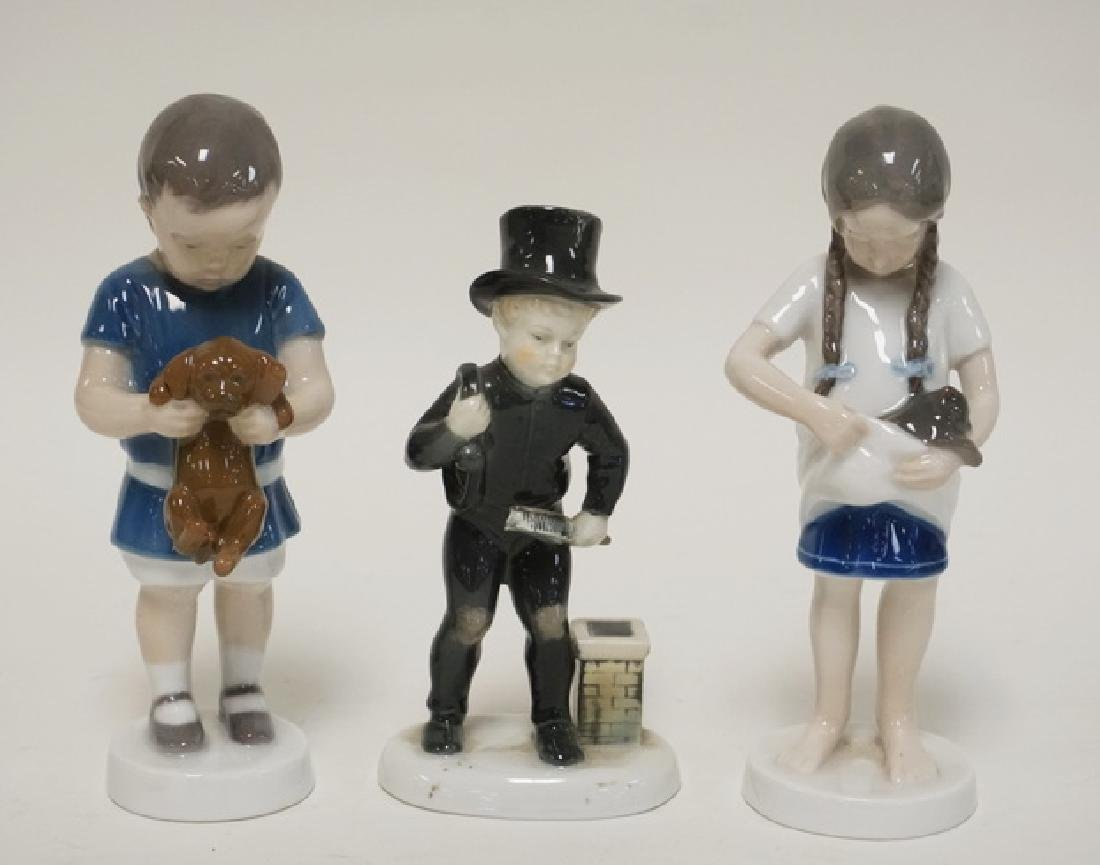 3 PORCELAIN FIGURES. 2 BING & GRONDAHL, A BOY WITH A