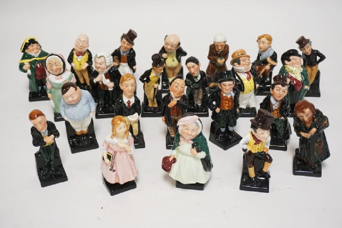 LOT OF 23 ROYAL DOULTON CHARLES DICKENS PORCELAIN