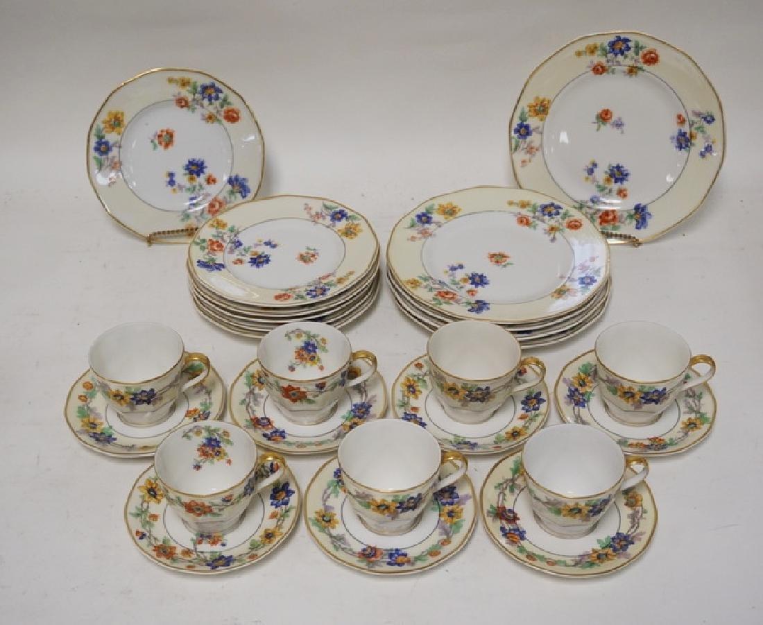 THEODORE HAVILAND *ROSE SPRAY* DINNERWARE. 7 CUPS AND