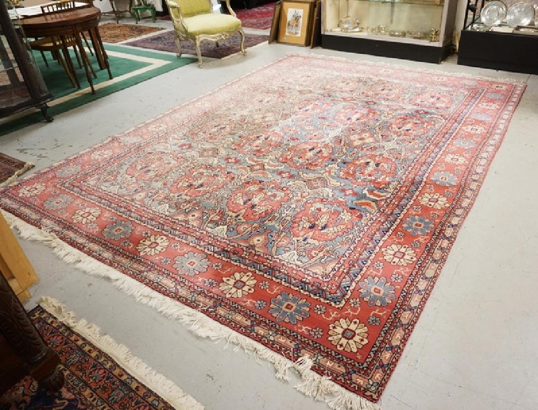 Hand Woven Room Size Oriental Rug Measuring 9 X 12