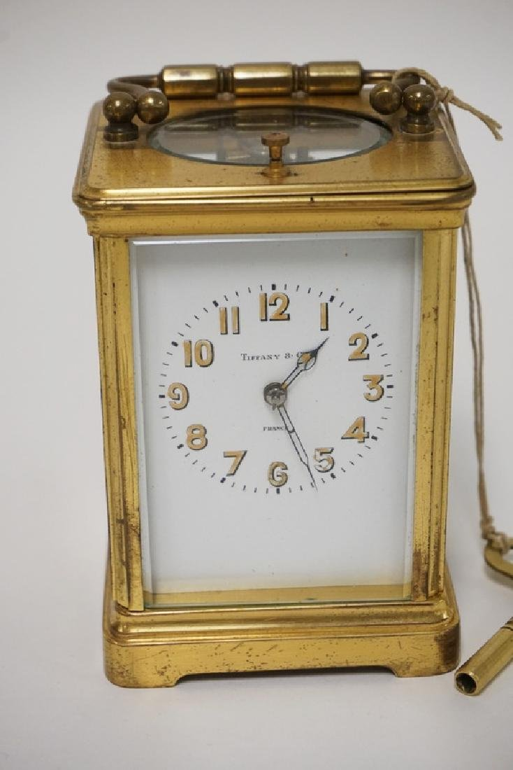 ANTIQUE FRENCH TIFFANY & CO REPEATER CARRIAGE CLOCK - 2